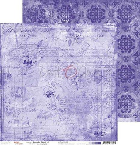 Craft O'clock skräppipaperi Lavender Mood 02