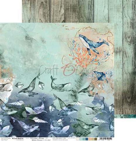 Craft O'clock skräppipaperi Ocean Deep 04