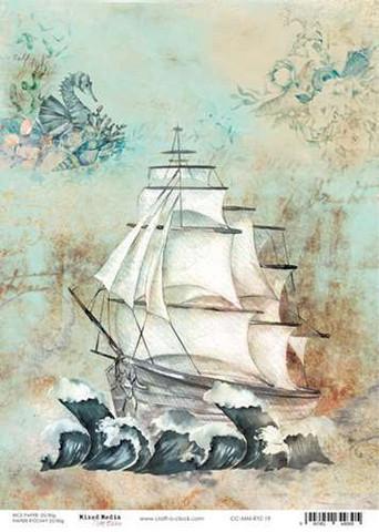 Craft O'clock riisipaperi Ocean Deep 1