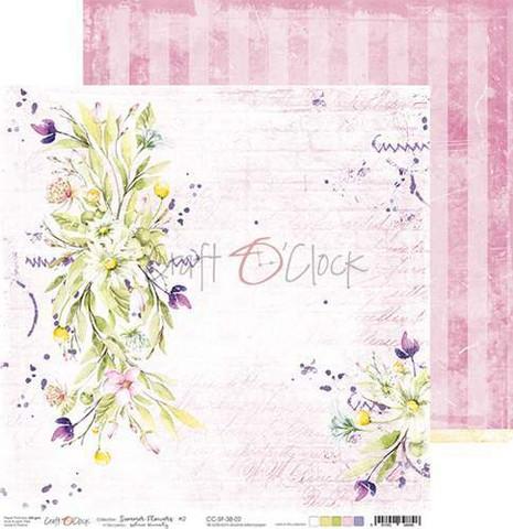 Craft O'clock skräppipaperi Summer Flowers 02