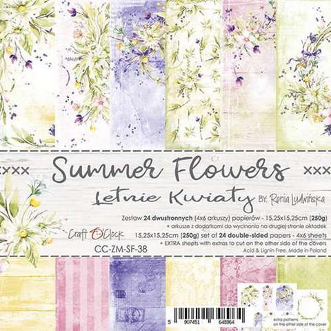 Craft O'clock paperipakkaus Summer Flowers