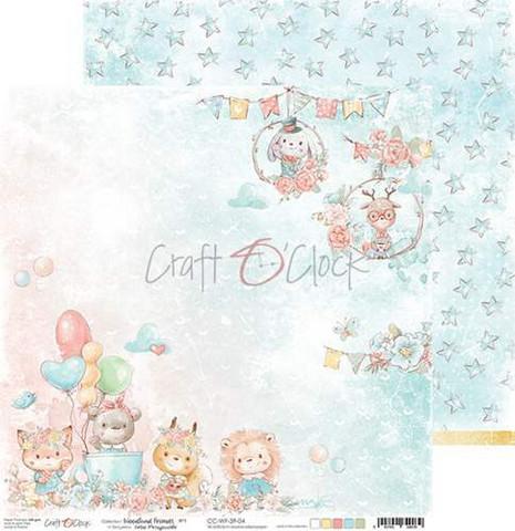 Craft O'clock skräppipaperi Woodland Friends 04