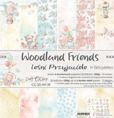 Craft O'clock paperipakkaus Woodland Friends, 12