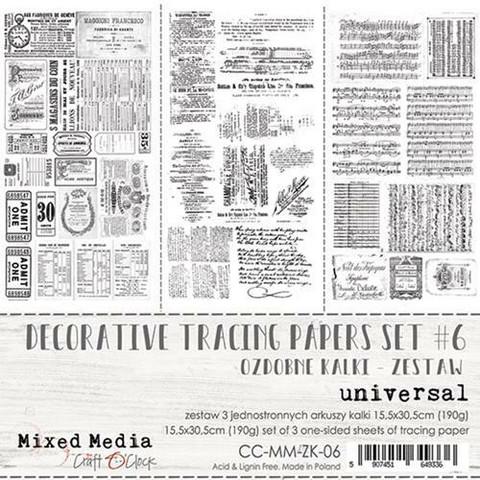 Craft O'clock Mixed Media Universal -kuultopaperit