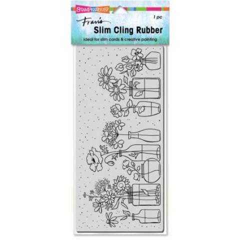 Stampendous Slim Wildflower Jars -leimasin