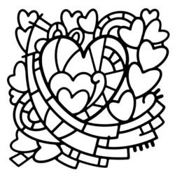 Woodware sapluuna Heart Window