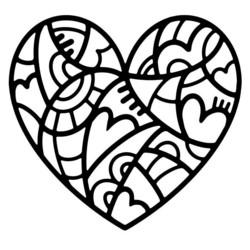 Woodware sapluuna Doodle Heart
