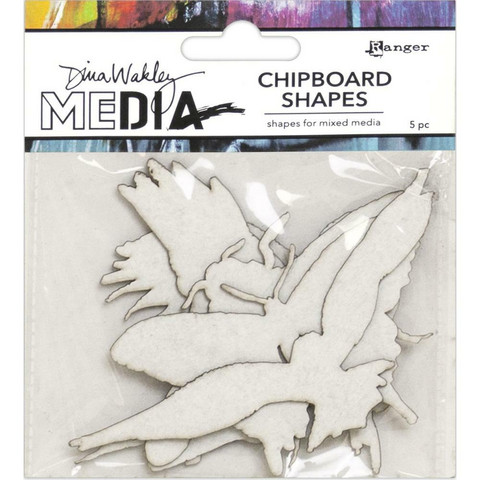 Dina Wakley Chipboard Shapes kuvioleikkeet Flying