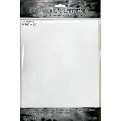 Tim Holtz Distress White Heavystock -kartonki, 8.5