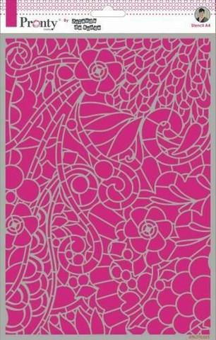 Pronty sapluuna Background Floral Swirl, A4