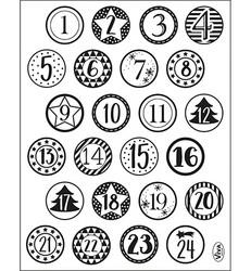 Viva leimasinsetti Advent Calendar Numbers