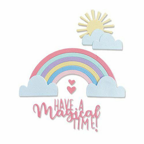 Sizzix Thinlits stanssisetti Rainbow Magic