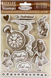 Stamperia leimasinsetti Alice