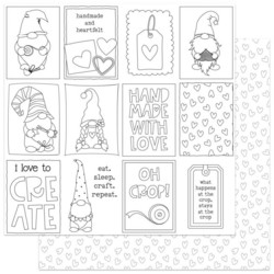ColorPlay skräppipaperi Crafting With My Gnomies, Color Me Cards