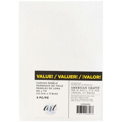 Art Supply Basics Panel Back Canvas -pohjat, 5 kpl, 5
