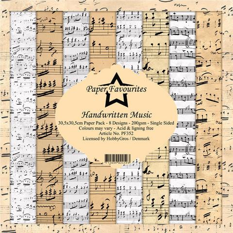 Paper Favourites Handwritten Music -paperipakkaus, 12