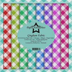 Paper Favourites Gingham Fabric -paperipakkaus, 12