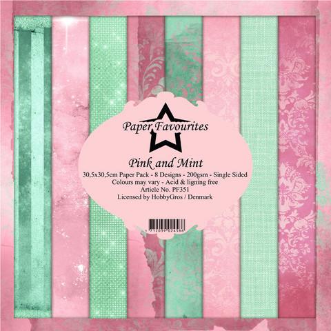 Paper Favourites Pink and Mint -paperipakkaus, 12