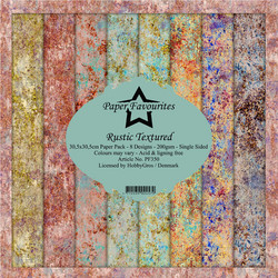 Paper Favourites Rustic Textured -paperipakkaus, 12