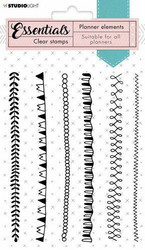 Studio Light leimasin Stamp Planner Essentials Borders