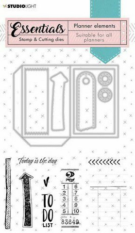 Studio Light leimasin- ja stanssisetti Stamp Planner Essentials Elements