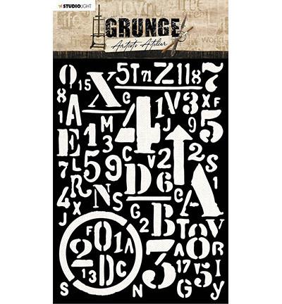 Studio Light Artist's Atelier -sapluuna, Background Letters and Numbers