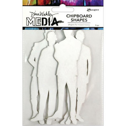 Dina Wakley Chipboard Shapes kuvioleikkeet The Men