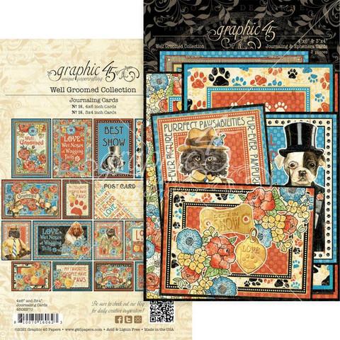 Graphic45 Well Groomed Journaling & Ephemera Cards -leikekuvat