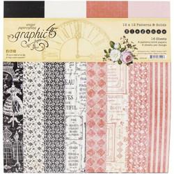 Graphic 45 -paperipakkaus Elegance Patterns & Solids 12