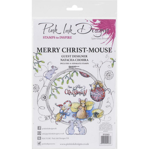 Pink Ink Designs leimasinsetti Merry Christmas Mouse