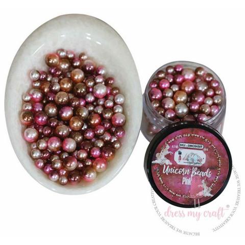 Dress My Craft Unicorn Beads -koristeet, Pink