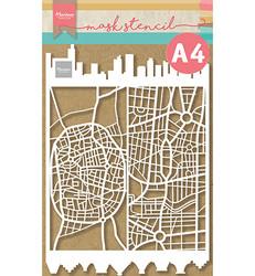 Marianne Design sapluuna Slimline City, A4