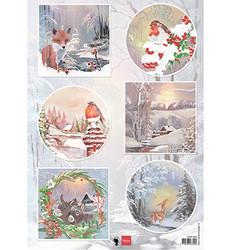 Marianne Design korttikuvat Winter Wishes Fox