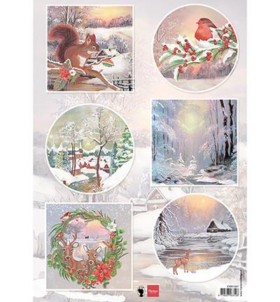 Marianne Design korttikuvat Winter Wishes Squirrel