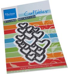 Marianne Design Art Texture Hearts -stanssi