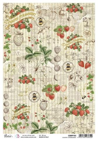 Ciao Bella riisipaperi Country strawberries