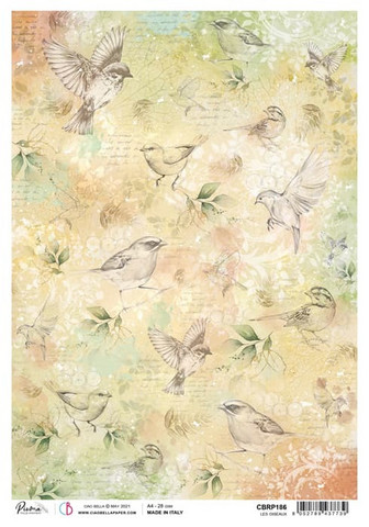 Ciao Bella riisipaperi Les Oiseaux