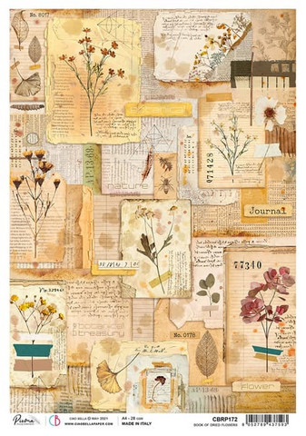 Ciao Bella riisipaperi Book of Dried Flowers