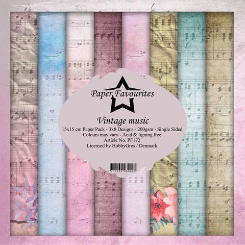 Paper Favourites Vintage Music -paperipakkaus