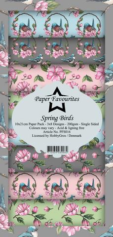 Paper Favourites Spring Birds -paperipakkaus, Slim Line