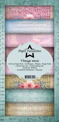 Paper Favourites Vintage Music -paperipakkaus, Slim Line