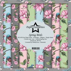 Paper Favourites Spring Birds -paperipakkaus, 12