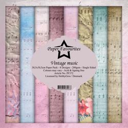 Paper Favourites Vintage Music -paperipakkaus, 12