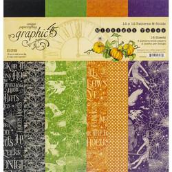 Graphic 45 -paperipakkaus Midnight Tales Patterns & Solids 12
