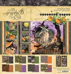 Graphic 45 -paperipakkaus Midnight Spell, 12