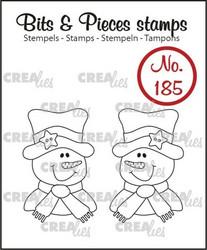 Crealies Bits & Pieces -leimasin Snowmen