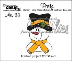 Crealies stanssisetti Snowman
