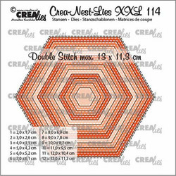 Crealies stanssi Hexagons with Double Stitch