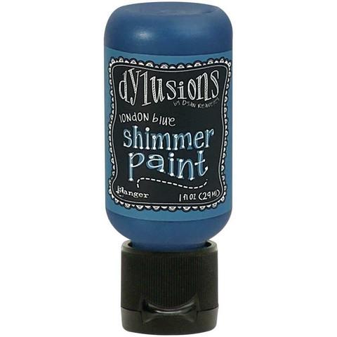 Dylusions Shimmer Paint -akryylimaali, sävy London Blue