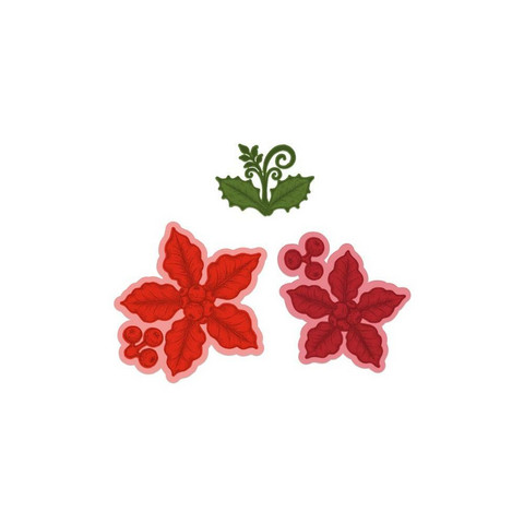 Heartfelt Creations Small Festive Poinsettia -stanssi